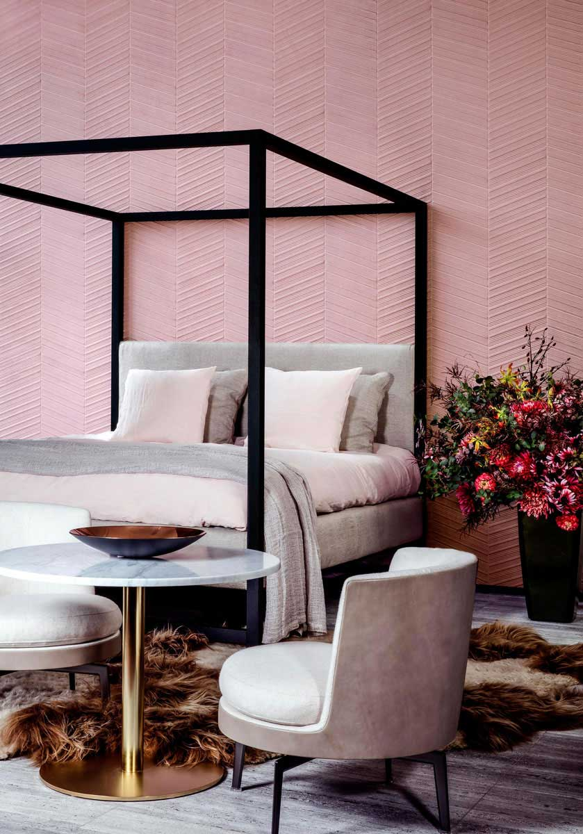 papier peint tendance vos murs prennent du relief. Black Bedroom Furniture Sets. Home Design Ideas
