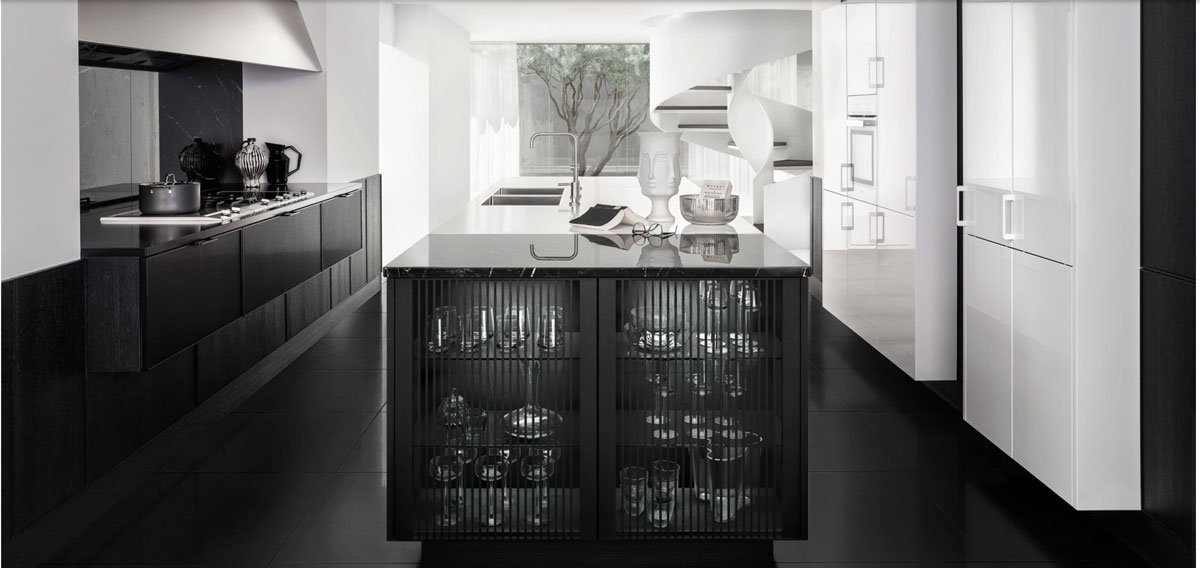 la cuisine s habille de noir astuces et conseils de pros idkrea rennes. Black Bedroom Furniture Sets. Home Design Ideas
