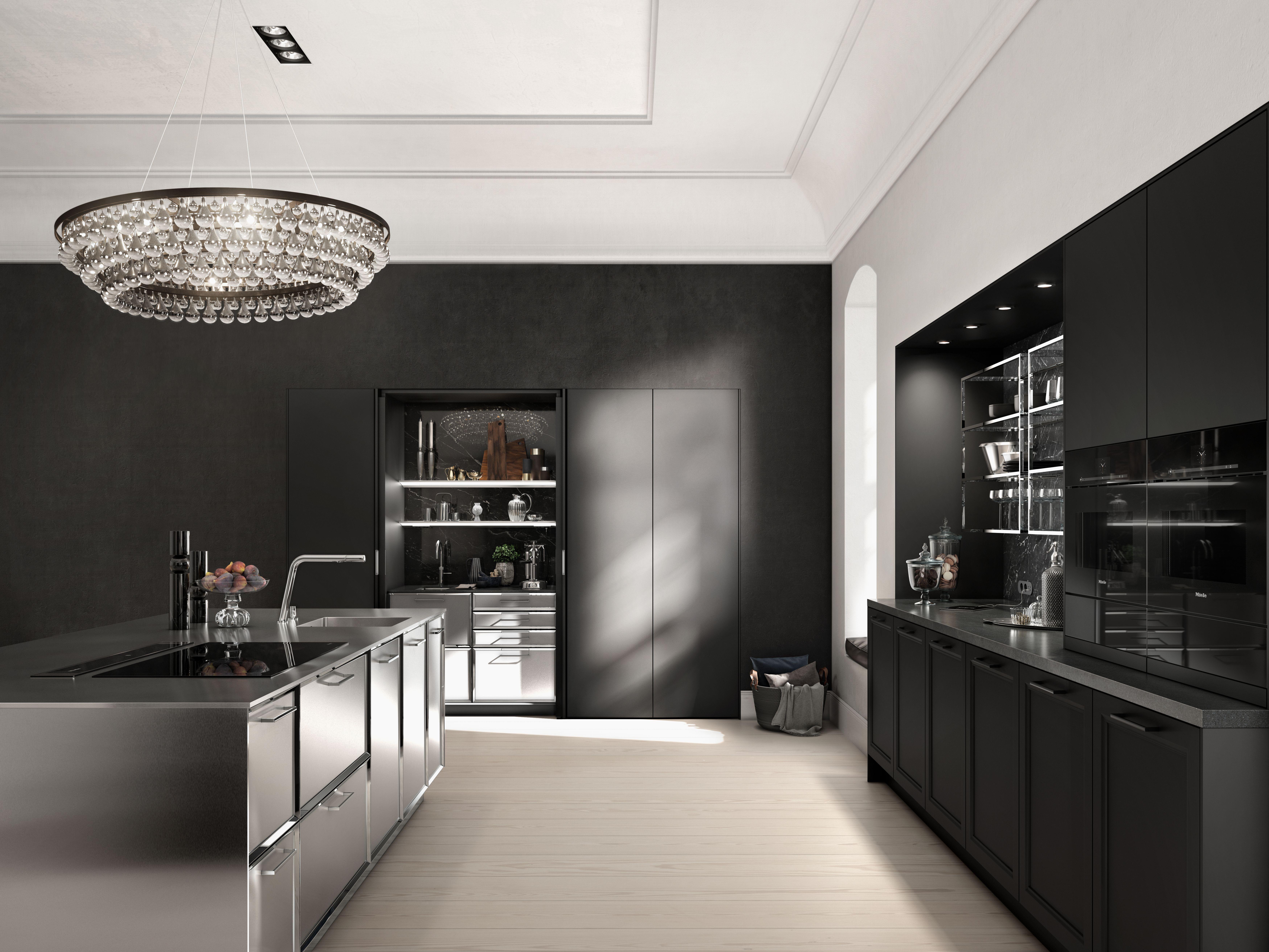 Meuble Bas De Cuisine Noir Laqué la cuisine s'habille de noir : astuces et conseils de pros