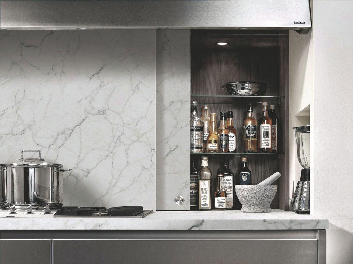 Credence Cuisine Marbre Blanc 100+ [ plaque de marbre sur mesure ] | plaque