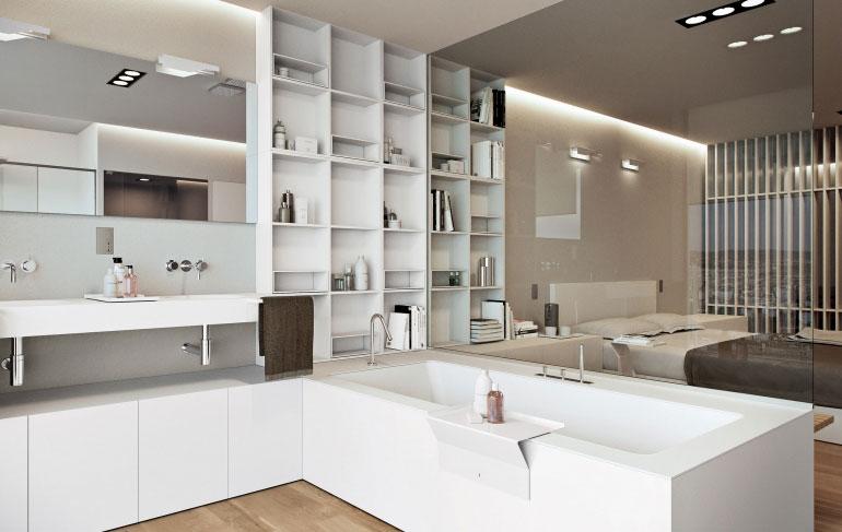 une salle de bain ouverte sur la chambre pour ou contre idkrea rennes. Black Bedroom Furniture Sets. Home Design Ideas