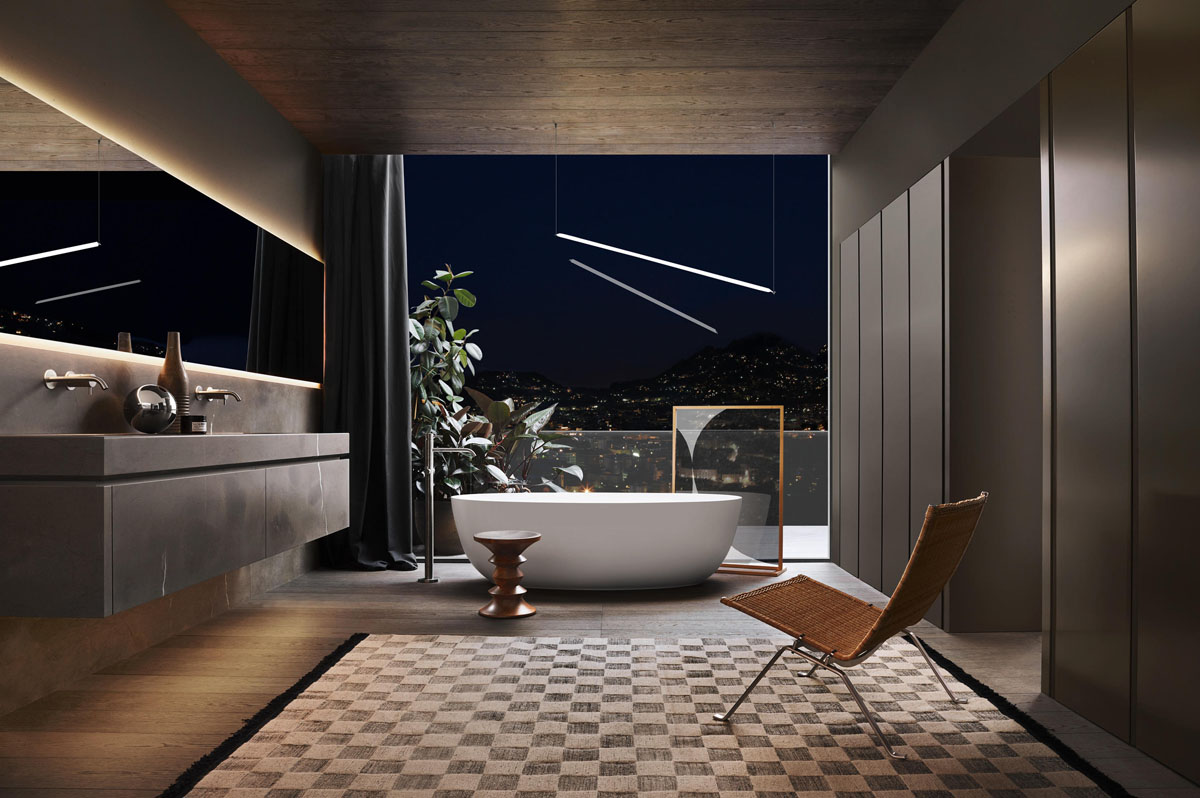 l am nagement salle de bain haut de gamme 5 ambiances pour s inspirer idkrea rennes. Black Bedroom Furniture Sets. Home Design Ideas