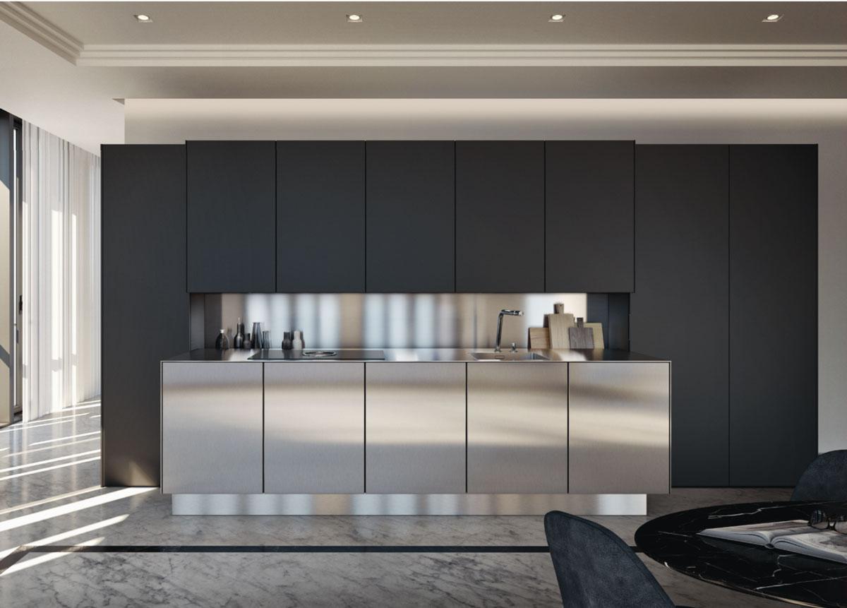 Mettre Un Miroir Dans Une Cuisine l'inox, un matériau design incontournable dans la cuisine et