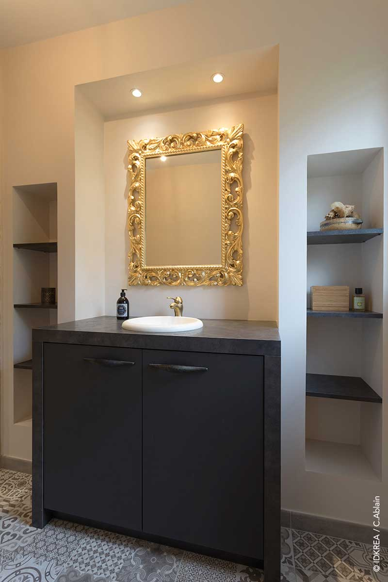 salle de bain marocaine moderne en tadelack idkrea rennes. Black Bedroom Furniture Sets. Home Design Ideas
