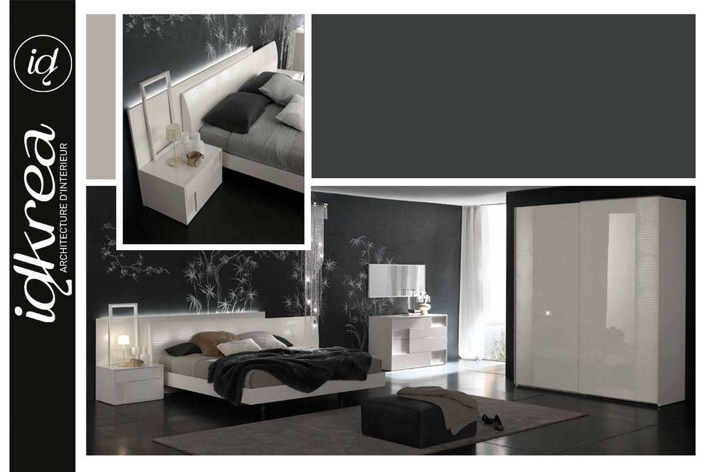 Chambre Contemporaine Chic : Aménagement intérieur et décoration de chambre idkrea