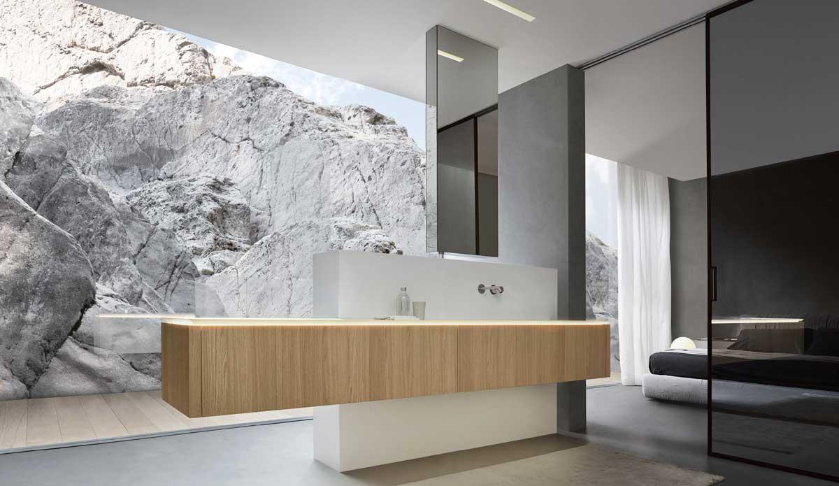Salle de bain design am nagement et r novation idkrea rennes - Salle de bain pratique ...