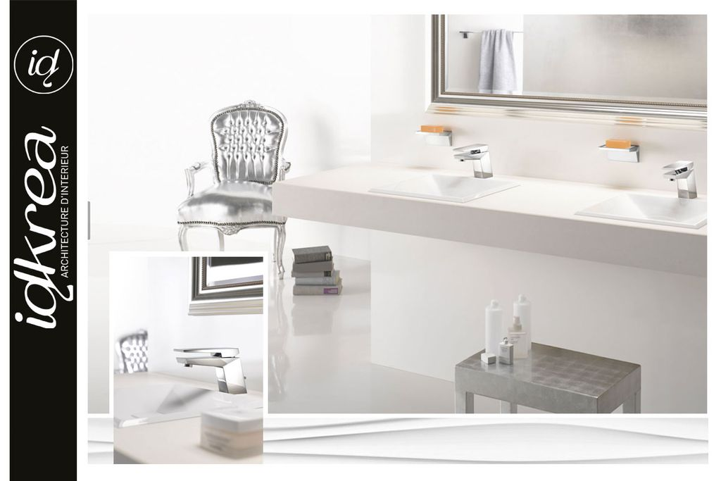 Salle de bain design am nagement et r novation idkrea for Amenagement salle de bain design