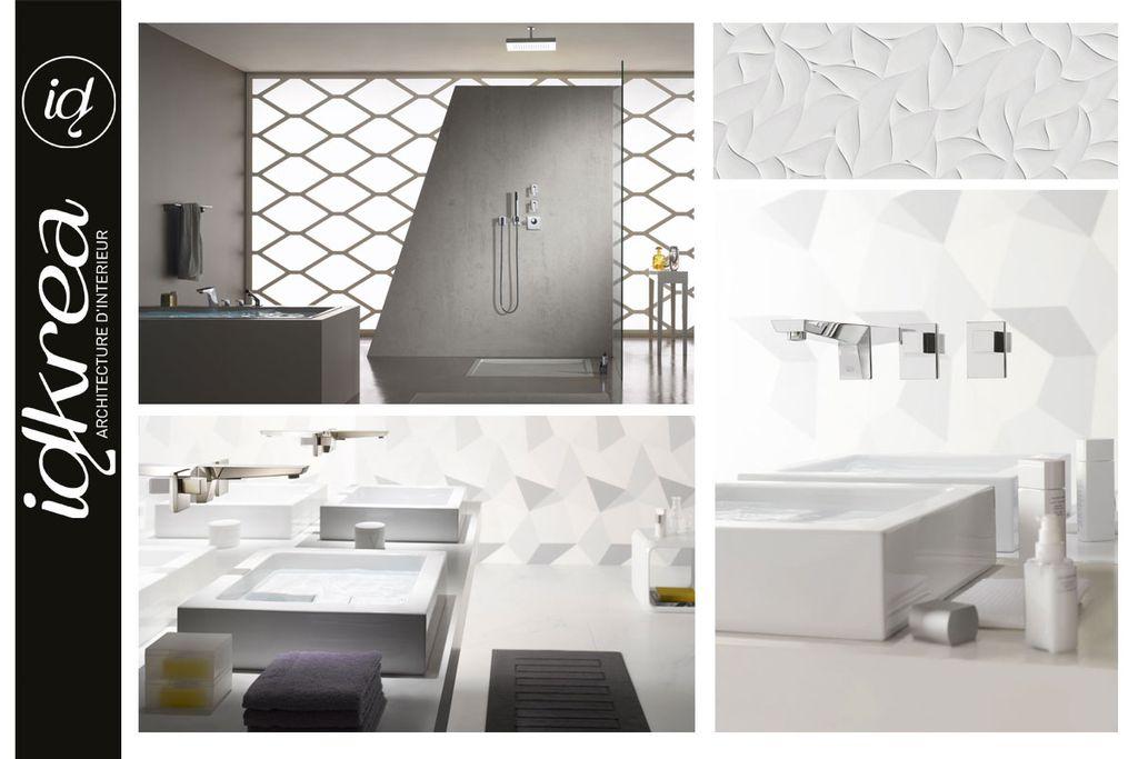 salle de bain design am nagement et r novation idkrea rennes. Black Bedroom Furniture Sets. Home Design Ideas