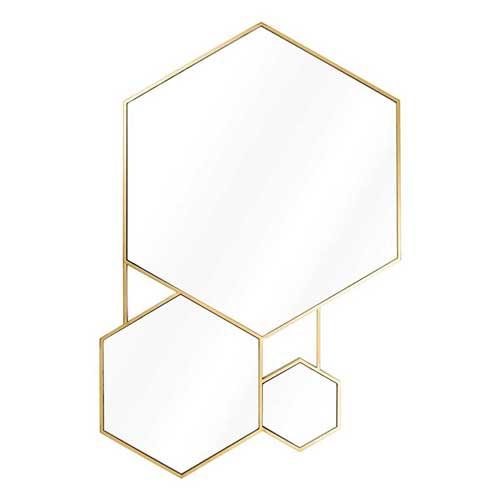 La d co aux accents m talliques votre shopping liste de for Miroir geometrique