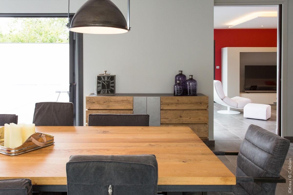 am nagement int rieur rez de chauss e et cuisine idkrea rennes. Black Bedroom Furniture Sets. Home Design Ideas