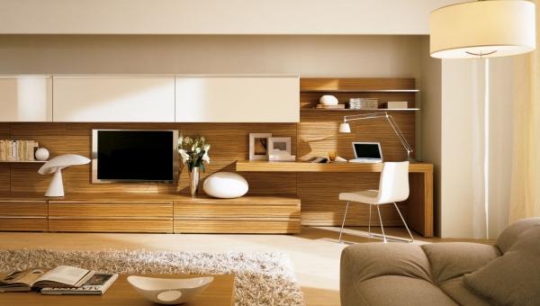 Espace télétravail - coin bureau dans le salon - IDKrea, architecture intérieure Rennes - Paris