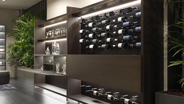 Cave à vin design : architecture intérieure par IDKrea, Rennes