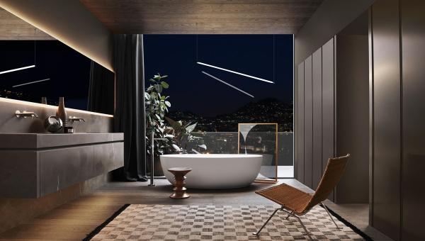 Création de salle de bain haut de gamme - Architect d'intérieur Rennes - IDKREA