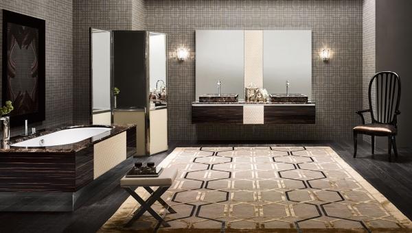 Aménagement de salle de bain ouverte design - IDKrea, Rennes - Paris