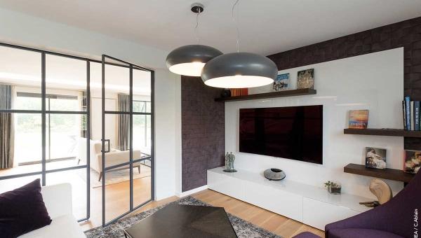 Architecture intérieure de salon - Style Contemporain - IDKREA, Rennes - Ille et Vilaine