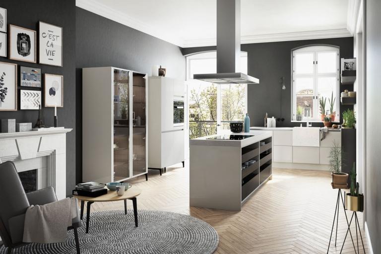 agencement cuisine, sur mesure, aménagée, design, SieMatic, URBAN - IDKREA, Rennes