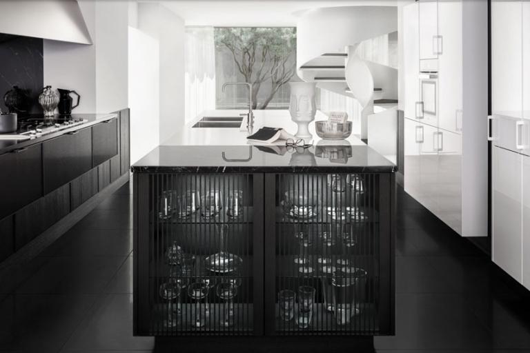 cuisine SieMatic design noire et blanche IDKREA, Rennes
