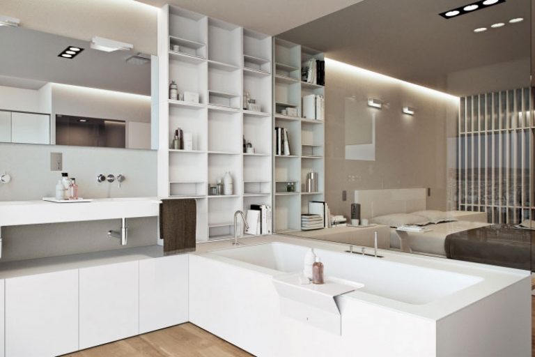 Une salle de bain ouverte sur la chambre pour ou contre - Chambre avec salle de bain ouverte ...