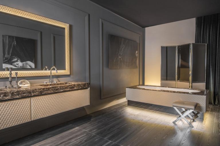 Mobilier et conception de salle de bain haut de gamme - Architect d'intérieur Rennes - IDKREA