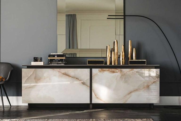 Tendances matières 2018 - Buffet Céramique - Salone del Mobile 2018 - IDKREA