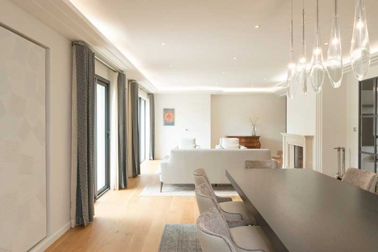 Décoration de séjour et salle à manger  dans le style flamand - IDKREA, Rennes - Ille et Vilaine