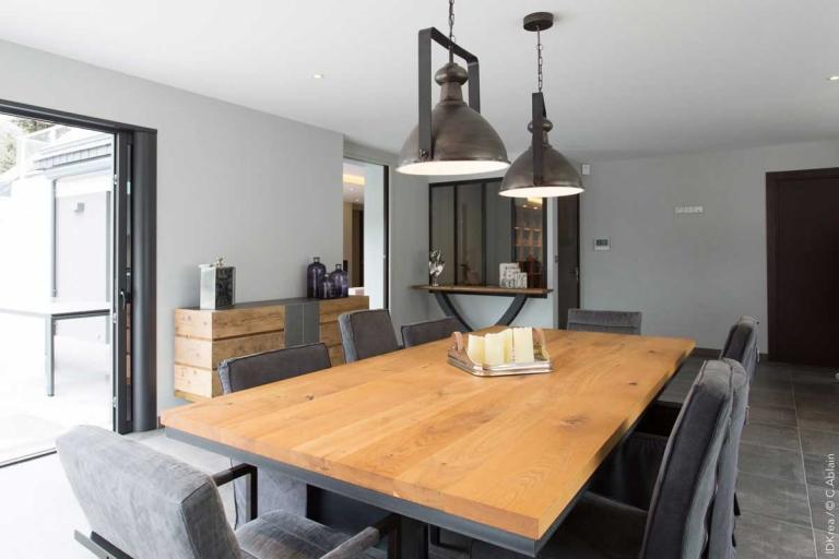 Salle à manger - Style industriel - décoration d'intérieur unique et personnalisée – IDKrea, Rennes