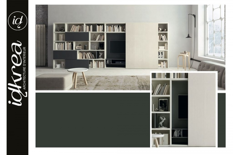 r novation et agencement de salon s jour et salle manger idkrea rennes. Black Bedroom Furniture Sets. Home Design Ideas