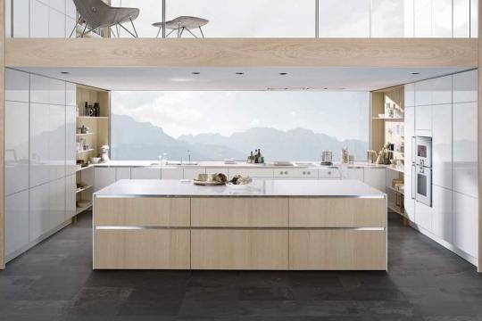 cuisine style scandinave blanche bois clair SieMatic Pure_IDKREA, Rennes
